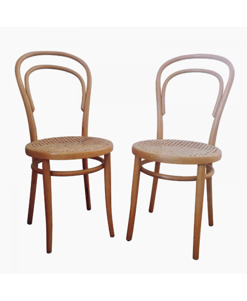 2 chaises bistrot cannées Thonet