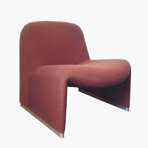 "Chauffeuse fauteuil ""Alky""Giancarlo Piretti pour Castelli Italie années 70"