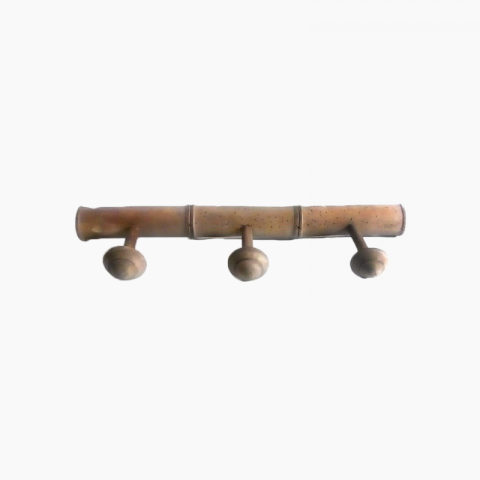 Porte-manteaux mural style bambou