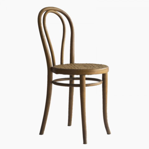 Chaise bistrot Thonet cannée
