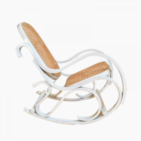 Rocking-chair enfant canné