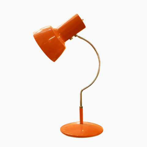 Lampe orange design Josef Hurka