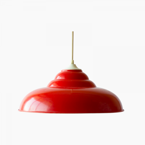 Suspension lampe rouge vintage