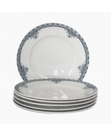 6 assiettes plates Andrinople St Amand
