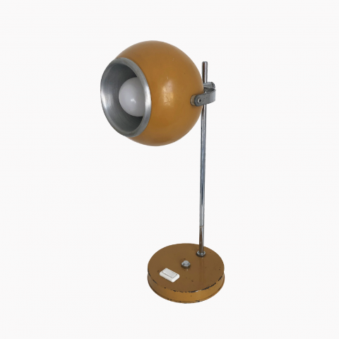 Lampe eyeball Moutarde monteuse Disderot vintage
