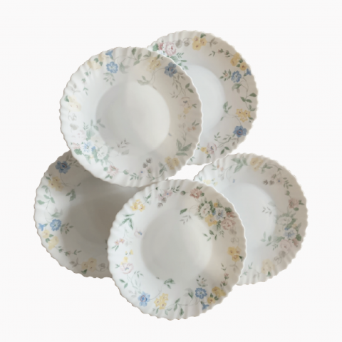 Assiettes fleuries Arcopal
