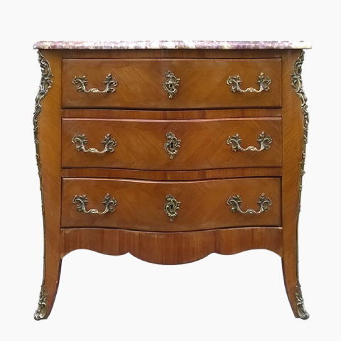 Commode Louis XV en bois de rose