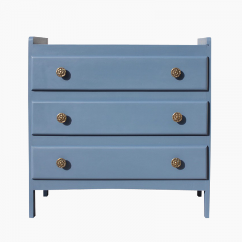 Commode vintage bleue
