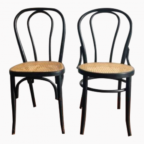 Chaises bistrot cannées