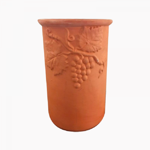 Pot en terre terracotta.