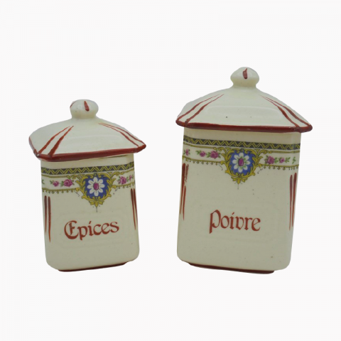 Lot de 2 pots à épices