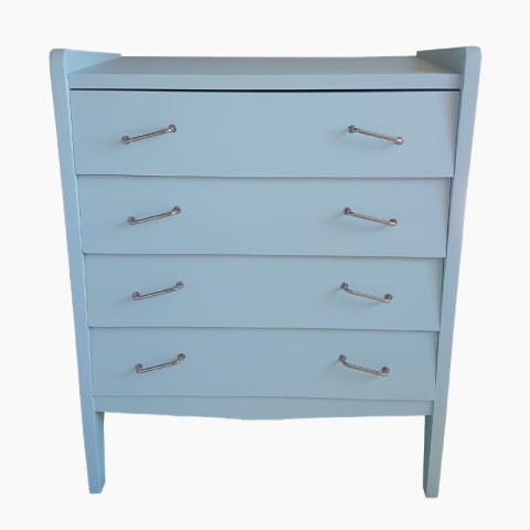 Commode vintage restaurée bleue