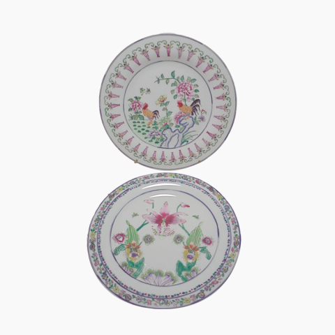 Lot de 2 assiettes chinoises