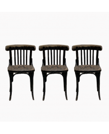 Lot de 3 chaises bistrot 1950