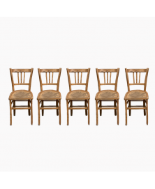 Lot de 5 chaises bistrot