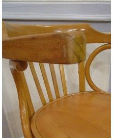 Chaise bistrot vintage avec accoudoirs