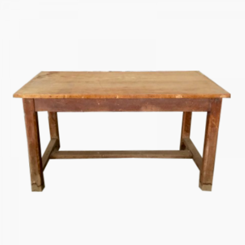 Table de ferme en bois vintage